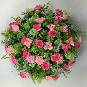 Artificial Grave flowers/memorial Wreath - Grave arrangement All Round Posie Pad