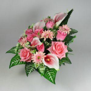 Flat back grave flower arrangement artificial flower arrangement grave crem pot/vase Mother's Day