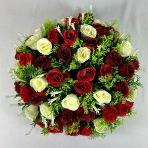 16 inch beautiful posy pad with 48 rosebuds