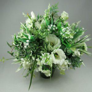 Flower arrangement in pot/vase all Round Artificial/Silk flowers 33cm FREE P&P