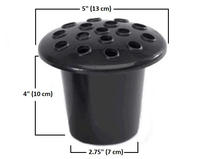 Standard artificial flower grave vase