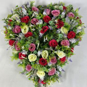 Large 24 rose heart pink